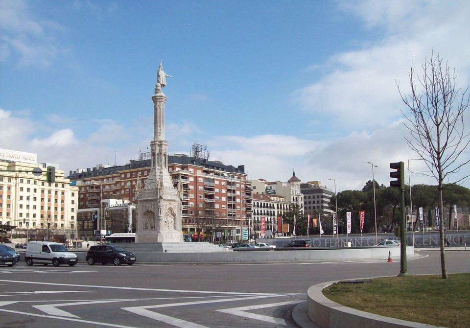 Plaza de Colon ('Columbus Square') in Madrid (Spain).