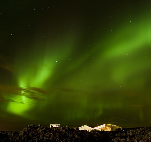 Aurora over the house