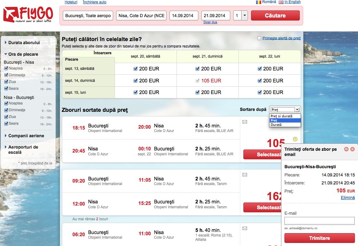 cautare bilete de avion ieftine