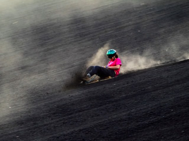 volcano-boarding-lets-visitors-slide-down-the-slopes-of-the-active-cerro-negro-volcano-in-nicaragua
