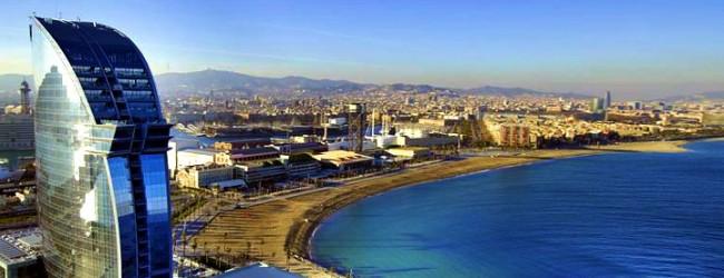 Zona maritimă din frumosul oraş Barcelona