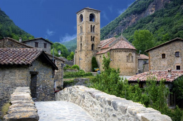 Medieval village of Beget.Girona.Catalonia.Spain
