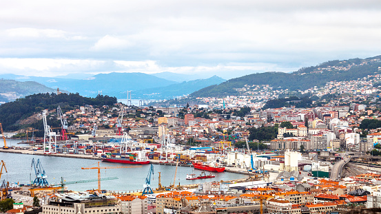 City view. Vigo, Spain.