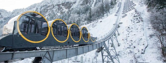A fost inaugurat cel mai abrupt funicular
