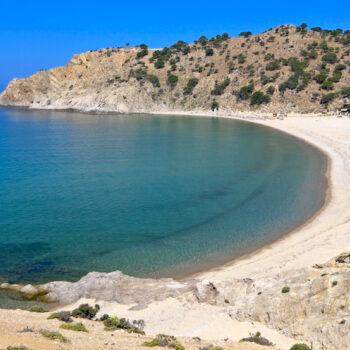 'Pahia ammos' beach at Samothraki island in Greece